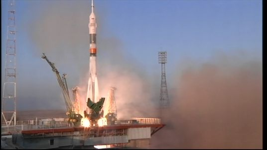 Tim Peake launched into space for the first time in 2015