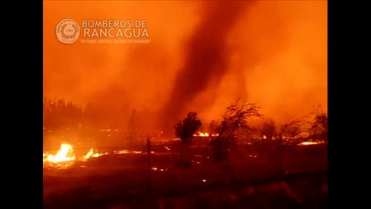 Raging forest fires tear up Chile