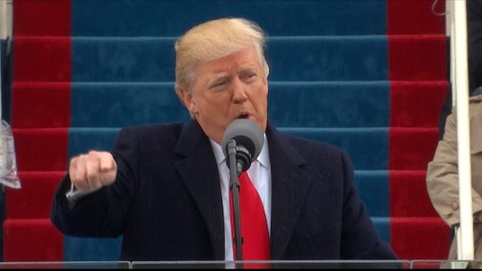 Donald Trump says power is being transferred back to the people