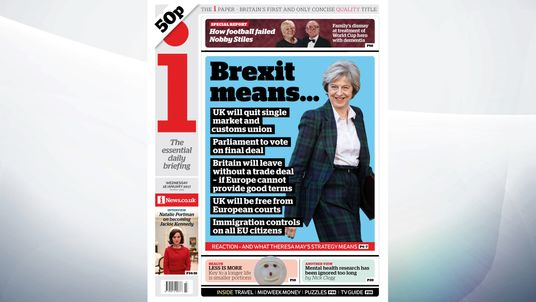 The i leads on the key points of Theresa May's Brexit speech