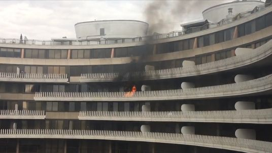 Fire at the Watergate residential complex in Washington DC