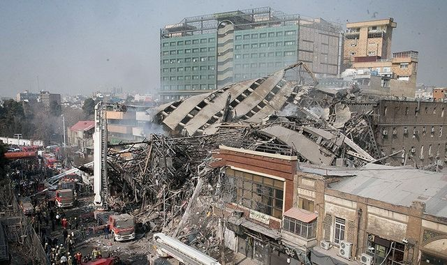Iran: 30 firefighters killed in Tehran building collapse