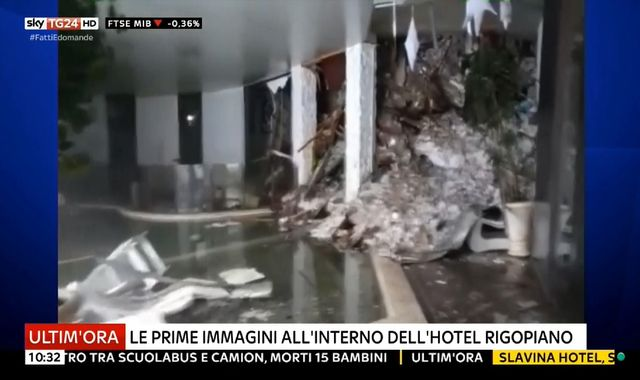 'Many dead' after avalanche hits spa hotel in Italy