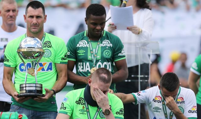 Brazil plane crash team Chapecoense plays first game since disaster