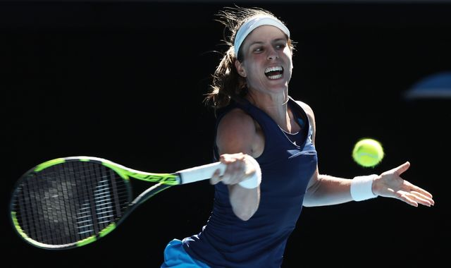 Australian Open: Johanna Konta crushes Caroline Wozniacki to make last 16