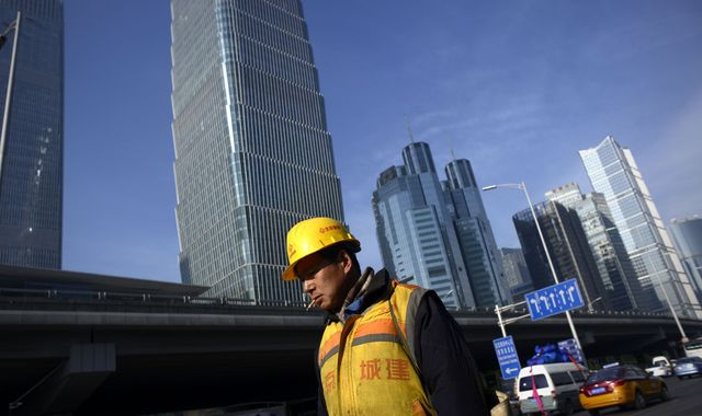 Chinese economic growth picks up for first time in two years