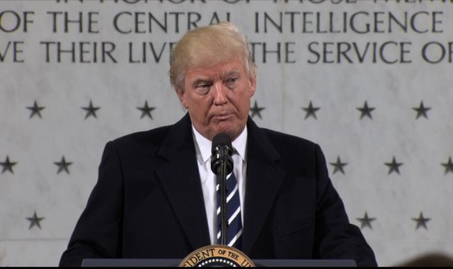 Donald Trump reaches out to intelligence services on first US trip