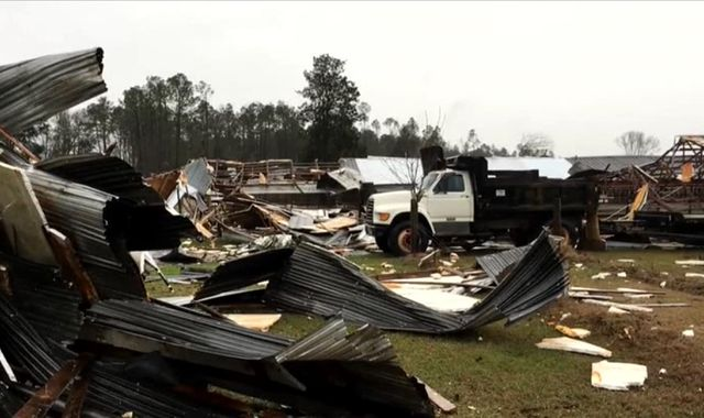 Seven dead as tornado razes mobile home park in Georgia
