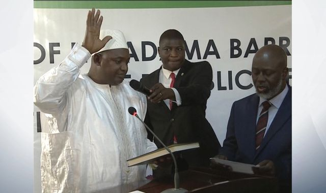 Ex-Argos guard Adama Barrow sworn in as Gambia President