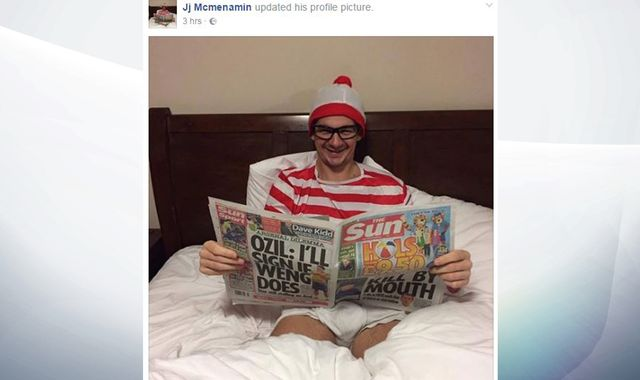 'Where's Wally' fugitive hands himself in to police live on Facebook