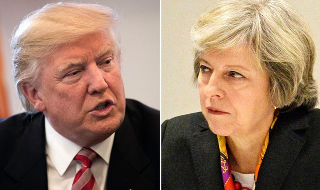 Theresa May will stress value of free trade in talks with Donald Trump