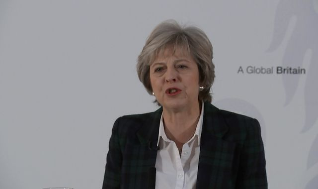 Theresa May: Final Brexit deal means UK must leave single market