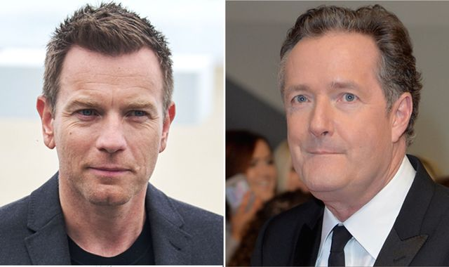 Ewan McGregor and Piers Morgan in Twitter spat over women's marches