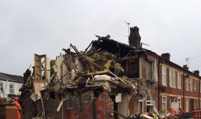 Man hurt in Manchester house blast arrested for 'causing explosion'