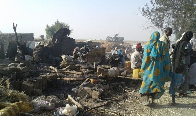 Nigerian airstrike kills dozens in refugee camp
