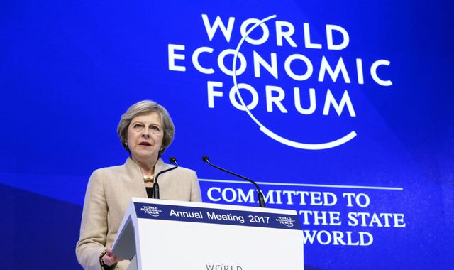 Theresa May says a post-Brexit UK will be a global free trade leader