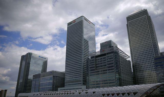 HSBC shares on the slide after 62% profit drop