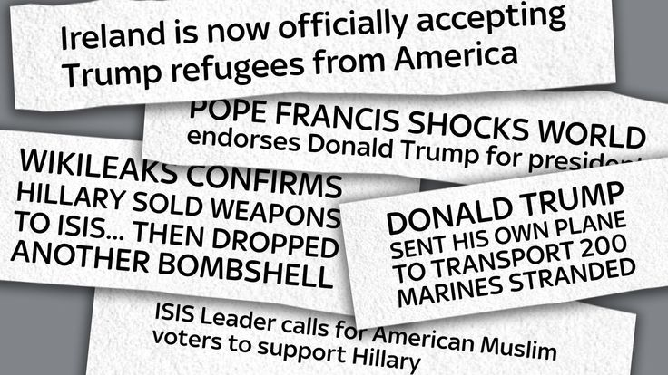 A collection of fake news headlines