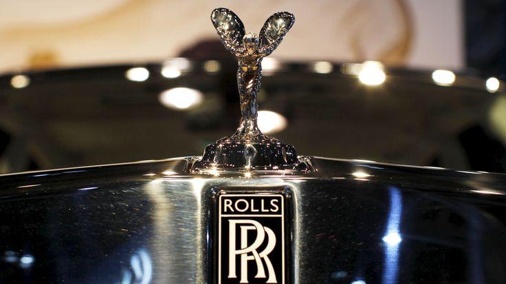 A Rolls-Royce logo is seen on a Rolls-Royce Phantom
