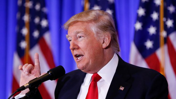 US President-elect Donald Trump speaks during a press conference in Trump Tower, Manhattan, New York, U.S., January 11, 2017
