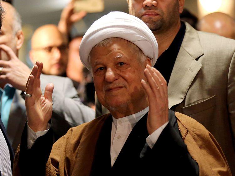 Former president Hashemi Rafsanjani pictured in 2015
