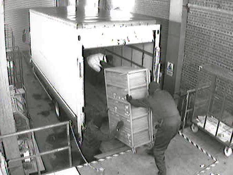 CCTV footage of the Securitas depot robbery from 2006