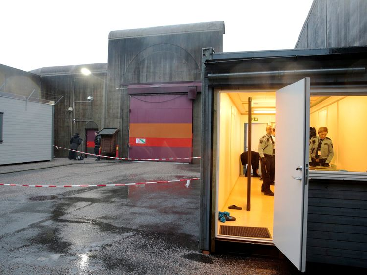Telemark prison in Skien, where Breivik is being held