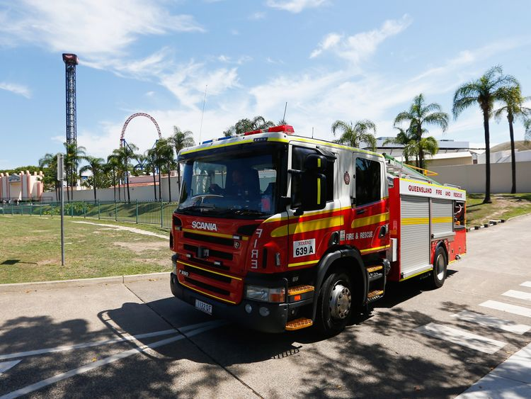 Firefighters were called to the Gold Coast theme park