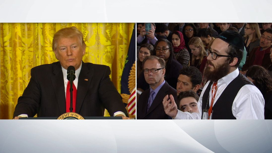 President Trump and reporter