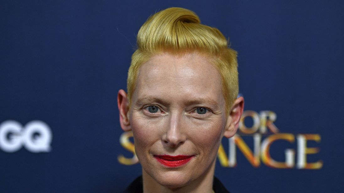 Swinton recently starred in the comic book adaptation of Marvel's Doctor Strange