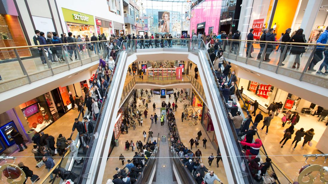 File photo dated 26/12/15 of shoppers at the Bullring shopping centre in Birmingham