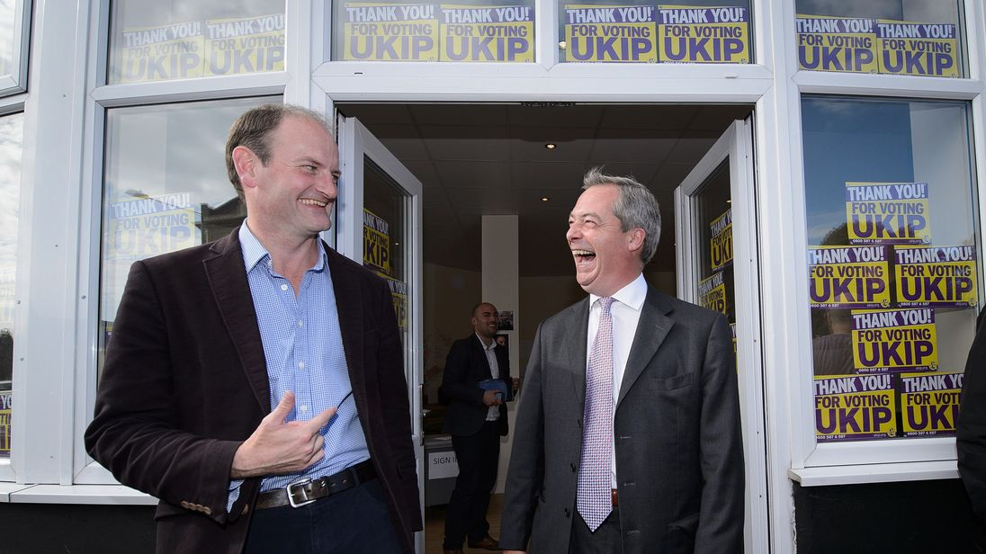 Nigel Farage with Douglas Carswell in happier times