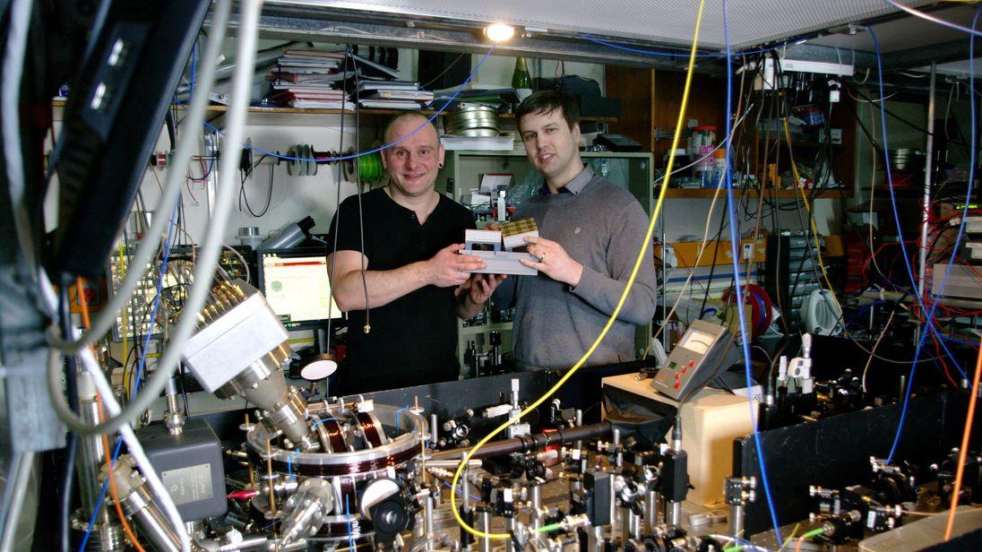 Professor Winfried Hensinger (left) and Lead author Dr Bjoern Lekitsch (right)