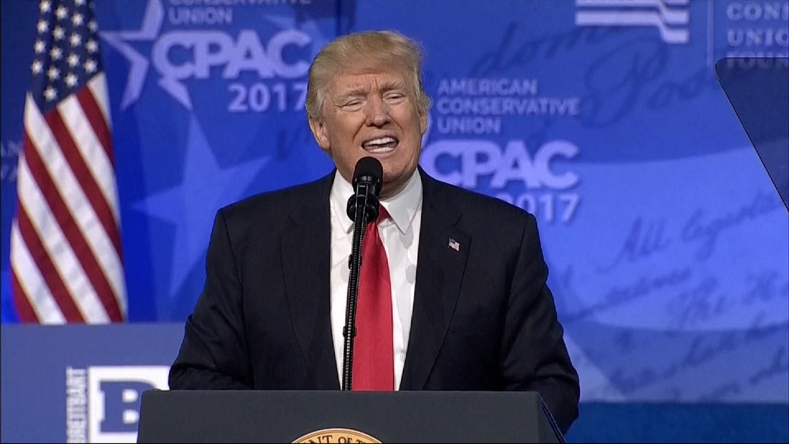 Trump speaks at the CPAC conference