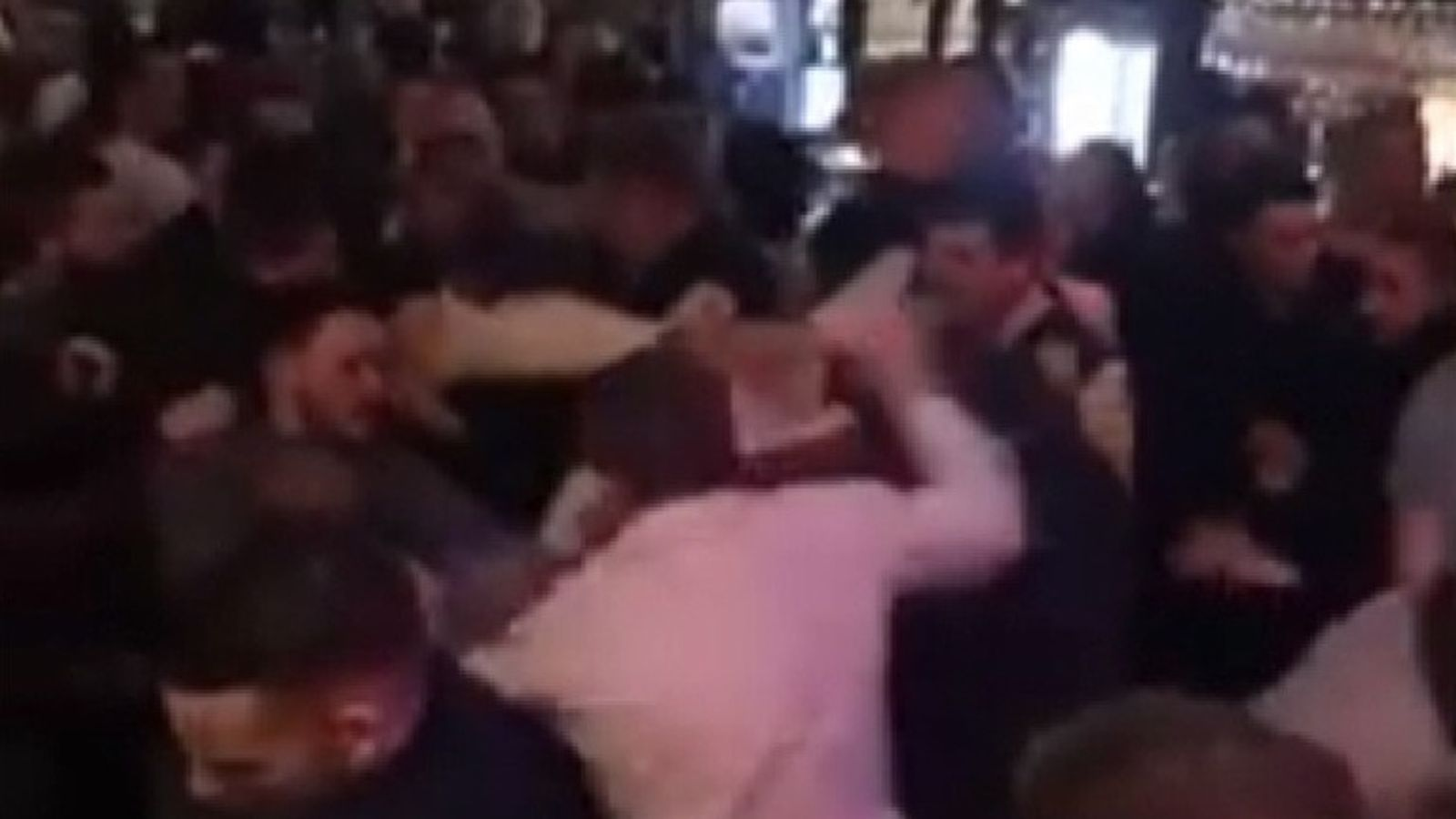 A police officer was injured in the pub fight