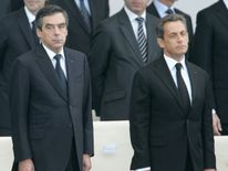 Awkward? Mr Fillon beat Nicolas Sarkozy to the Republican nomination