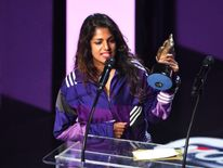 Singer M.I.A. was presented with the award for Best British Female