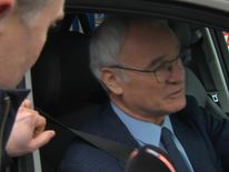 The ousted Leicester City manager Claudio Ranieri bids farewell to the club