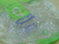 Among the items inside its stomach were bags with writing in English