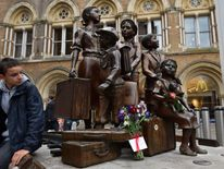 A memorial at London's Liverpool Street Station to children who arrived on the Kindertransport, fleeing from the Nazis