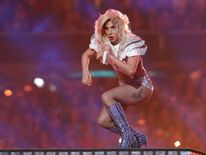 Singer Lady Gaga performs during the halftime show at Super Bowl LI between the New England Patriots and the Atlanta Falcons in Houston