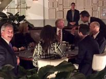 Nigel Farage dines with President Trump in Washington DC