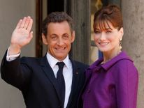 Nicolas Sarkozy and Carla Bruni in 2008