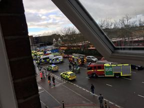 Emergency services at the scene in Bellingham