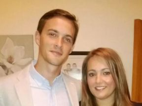 Oliver Dearlove and his girlfriend Claire. Pic: Met Police