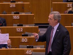 Seb Dance and Nigel Farage