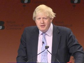 Foreign Secretary Boris Johnson at the British Chambers of Commerce Annual Conference