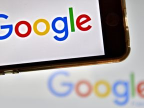 The Google logo on phone and desktop
