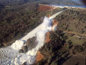 Officials have warned of a 'hazardous situation' at the dam