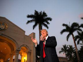 Donald Trump at his resort in Mar-a-Lago, Florida